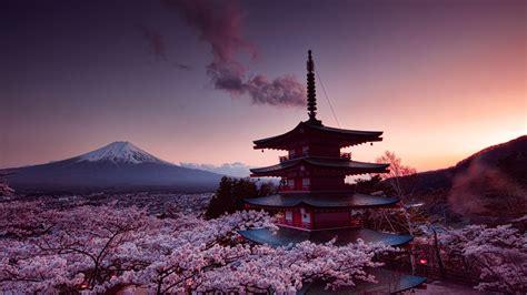 7680x4320 Churei Tower Mount Fuji In Japan 8k 8k Hd 4k