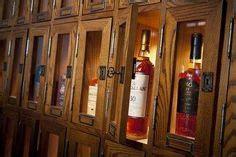 whiskey cabinet shelf detail  throw  bottle