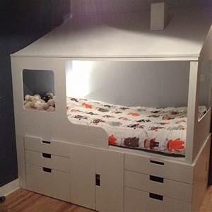 Rangement Ikea Chambre : 2 en 1 lit cabane enfant rangements ~ Teatrodelosmanantiales.com Idées de Décoration