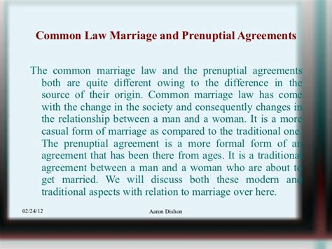 common marriage and prenuptial agreements 29