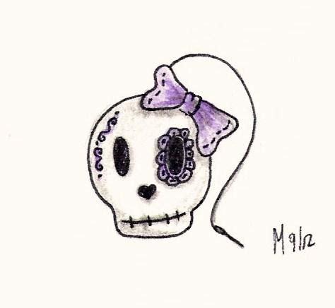 Contest Entry Cute Skull Mariahasapaintbrush