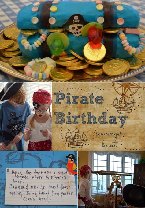 pirate birthday party scavenger hunt idea home stories