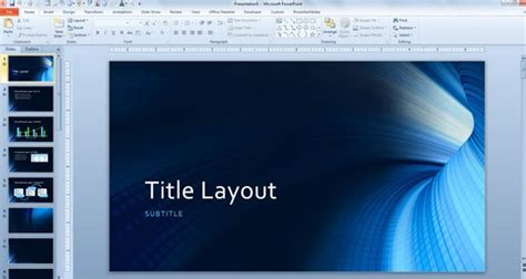 tunnel powerpoint background  technology template
