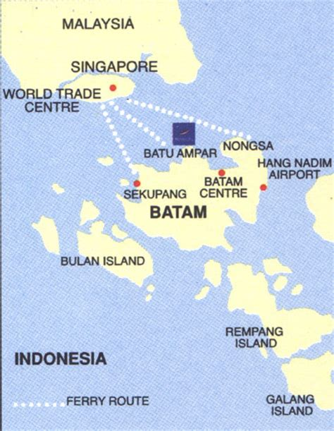 Ferry Pekanbaru Batam by Batam Map