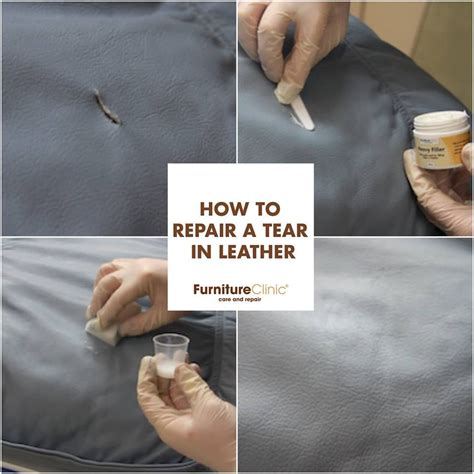 Repair In Leather by How To Repair A Tear In Leather Tear In Your Leather
