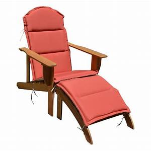 holz adirondack chair auflage garten sonnenliege relax With französischer balkon mit garten liegesessel