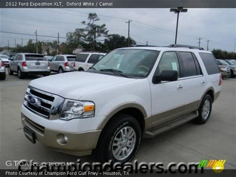 2012 Ford Expedition Xlt by Oxford White 2012 Ford Expedition Xlt Camel Interior