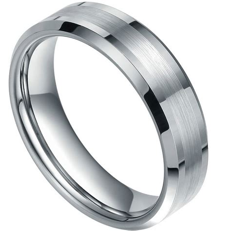 size 5 wedding rings dynamis bevled tungsten ring with brushed and polished