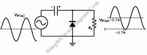 signal clamper using diode simple circuit diagram With clamping circuit