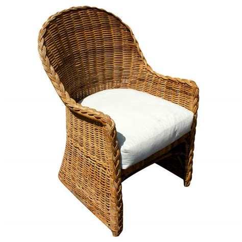 rattan woven high back lounge chairs omero home