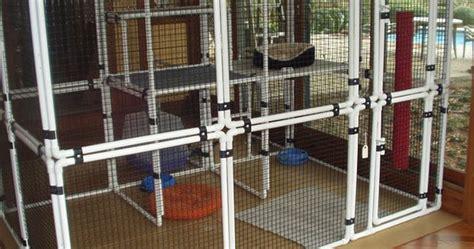 pet diy enclosure cats pvc pets diy furniture shelter
