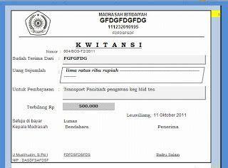 Contoh Kwitansi Pembayaran Excel by Contoh Kwitansi Untuk Ms Excel This Is My My Way