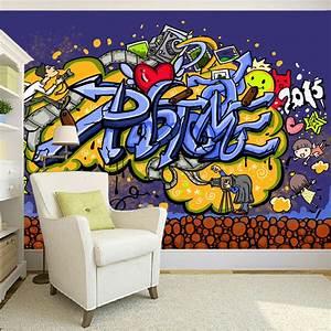 Custom 3D Mural Wallpaper Modern Abstract Graffiti Art ...