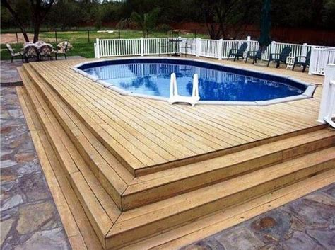 Better Decks Fences by 40 Uniquely Awesome Above Ground Pools With Decks Diy