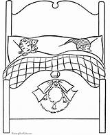 Coloring Pages Christmas Eve Bed Beds Printable Sleep Bunk Sleeping Parents Kid Template Asleep Dot Popular Raisingourkids Holiday Printing Help sketch template