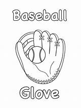 Baseball Coloring Glove Printable Trophy Wifestyle Thetrophywifestyle sketch template