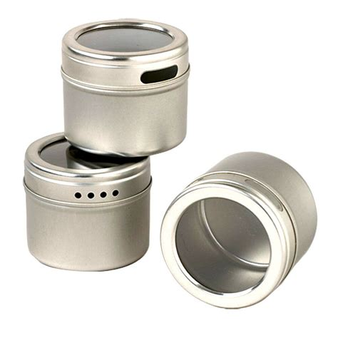 Kamenstein 12 Tin Magnetic Spice Rack by Kamenstein Magnetic Storage Tin Organizer Spice Crafts