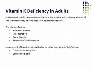 The gallery for --> Vitamin K Deficiency