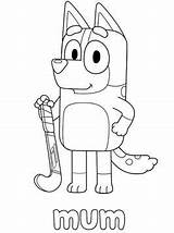 Bluey Mum Fun Coloring Pages sketch template
