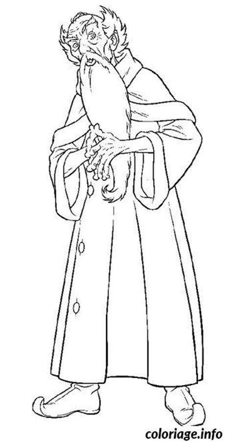 coloriage dumbledore directeur de  ecole de sorcellerie