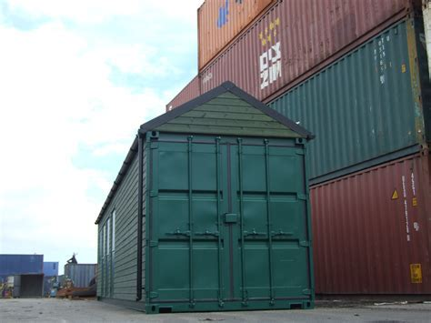Converted Portable Shipping Container Changing Rooms