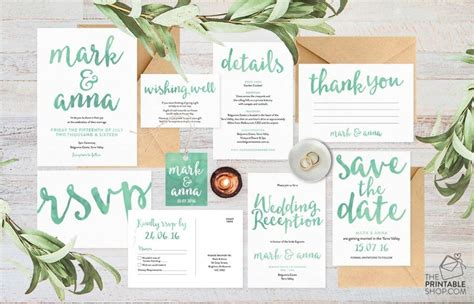 wedding invitation set wedding invitation suite wedding