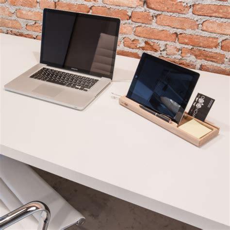 organiseur de bureau en bois accessoires bureau bois