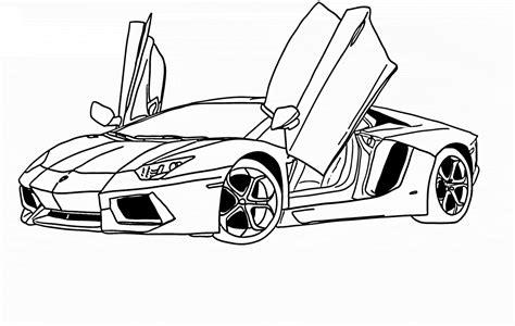 Free Coloring Pages Of Lamborgini Aventador