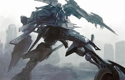 Mecha Anime Core Fantasy Robots Armored Artwork