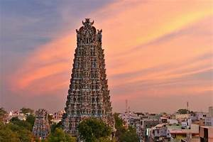 Sunset  West Gopuram  Minakshi Temple  Madurai