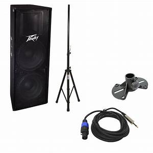 Peavey Pv 215 Pro Audio Dj 1400 Watt Passive Dual 15 U0026quot  Pa Loud Speaker With 1  4 U0026quot