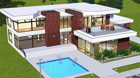 sims  house plans modern inspirational lovely  sims