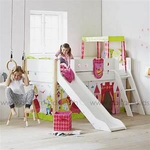 Lit Toboggan Ikea : white by flexa lit mi hauteur blanc avec toboggan ~ Premium-room.com Idées de Décoration