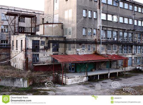 Alte Fabrikfassade Stockbild Bild Von Tschechisch, Glas
