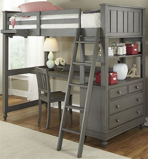 kids loft bed and desk lake house stone twin loft bed with desk from ne kids