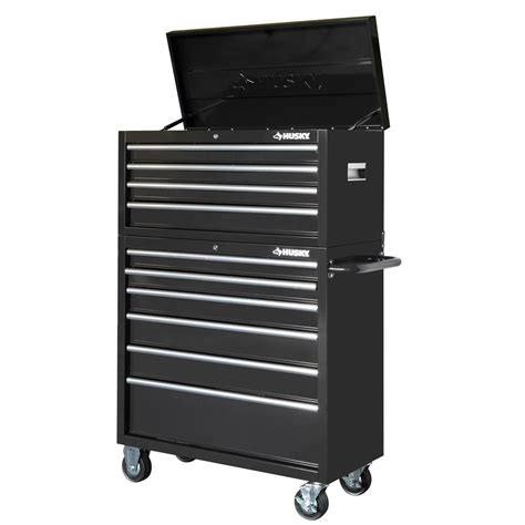 husky tool storage cabinets husky 40 in 10 drawer tool chest and rolling tool cabinet