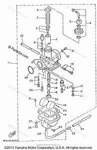Yamaha Atv 1994 Oem Parts Diagram For Carburetor