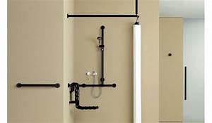 Support Tringle Rideau Plafond : rideaux de douche et tringles de rideaux pour un espace ~ Dailycaller-alerts.com Idées de Décoration