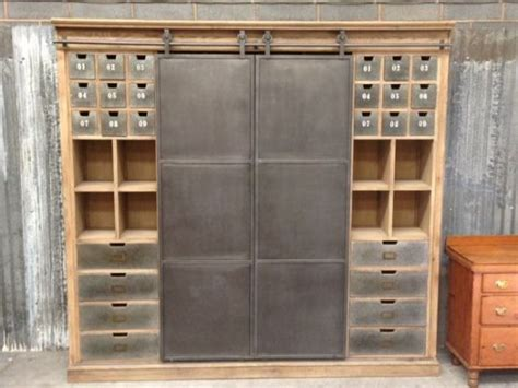 Vintage Metal Kitchen Cabinets Uk by Industrial Style Cabinet Metal Haberdashery