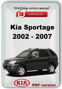 car service manuals pdf 2002 kia sportage lane departure warning kia sportage 2002 2007 factory workshop service repair manual ebay