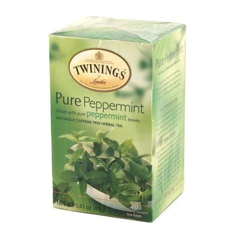 peppermint tea twinings peppermint herbal tea 20 tea bags
