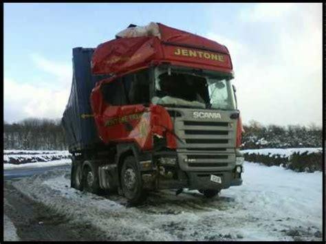 jentone freight scania wagon truck damage  accident