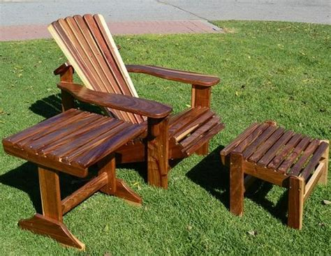 chairs loungers kiaat adirondack chair with footrest