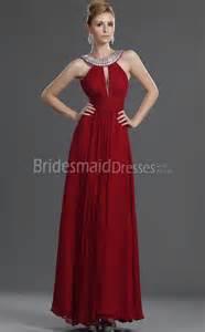 crimson bridesmaid dresses a line chiffon v neck floor length with beading bridesmaid dresses ukbd03 469
