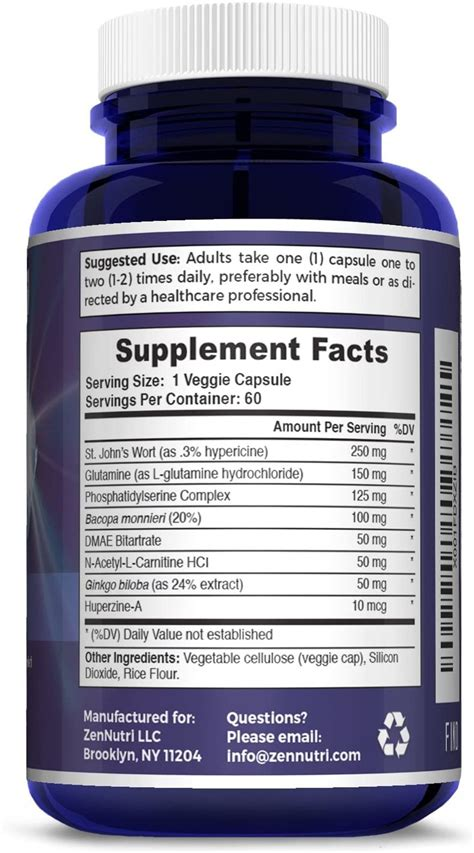 focus memory clarity mood support brain booster