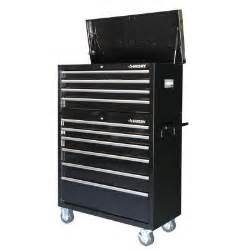 husky 40 in 10 drawer tool chest and cabinet set in black