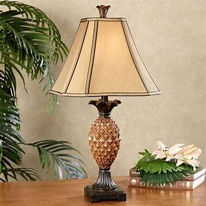 Haina Tropical Pineapple Table Lamp with CFL Bulb