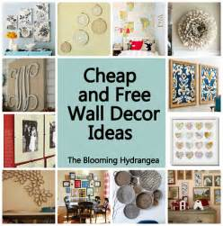 cheap free wall decor ideas roundup