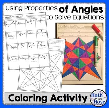 Angle Properties And Solving Equations  Coloring Activity (7g5
