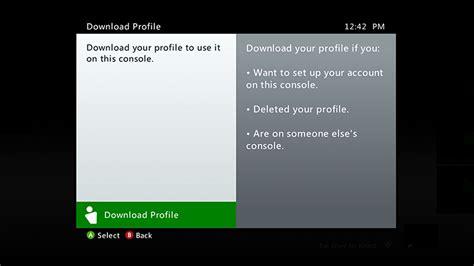 Add Or Remove Xbox Profile On An Xbox 360 Console